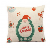 Home Decoration Christmas Santa Claus Gift Pillow Cushion Cover Kids Gift
