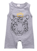 Boy Sleeveless Newborn Romper Bodysuit Jumpsuit Baby Clothes Outfits