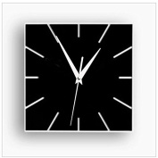 ZQ Modern European and American Creative fun decorating the living room wall clock wall clocks digital wall clock green Stereo Mute clock fashion square room decorations , black