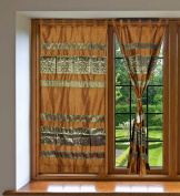 Natural Curtains For Living Room 210cm X 110cm