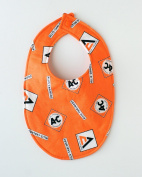 Allis Chalmers Tractor Logo Baby Bib, Orange