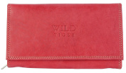 Red Genuine Leather Wallet Wild Tiger