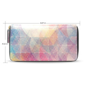 Womens Pink Pattern Long Wallet Case with Card Holder