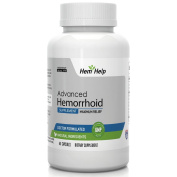Hem-Help - Fast Action Hemorrhoid Relief Capsules w/ All Natural Formula for Quick Relief from Hemorrhoid Related Inflammation, Itching, Bleeding & Pain. 60 Capsules