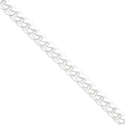 .925 Sterling Silver 8.5MM Bevelled Curb Link Bracelet 7 and 8 Inches