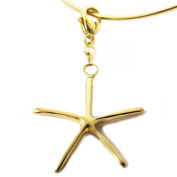Women's 18K Rose Gold Plated Sterling Silver Starfish Collectable Charm