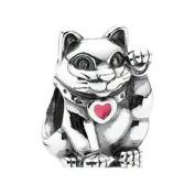 790989EN05 Lucky Cat Sterling Silver Charm