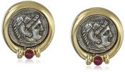 Roman Coin Clip-On Earrings