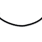 .925 Sterling Silver 4.00MM Black Satin Cord Necklace 16 and 18 Inches