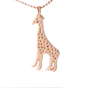 MB Michele Benjamin LLC Jewellery Design Women's 18K Rose Gold Plated Sterling Silver Giraffe Necklace 46cm