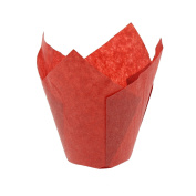 CiboWares Large Red Tulip Style Baking Cups, Package of 200