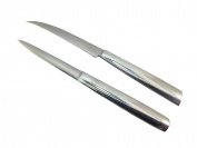 Lot of 2 Stainless Carving Knives Fruit Vegetable Thai Knife Collection Art Soap