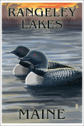 Rangeley Lakes, Maine - Loons at Sunset