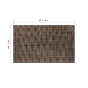 YUFENG Crossweave Woven Vinyl Placemats PVC Tablemats Heat Insulation Stain-resistant Non-slip Insulation Washable Durable Placemats for Dining Table,set of 4
