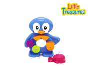 Waterfall Penguin Bath time Toy with Water Scoop Pail and Waterfall Attachments Already Put Together by Verzabo