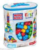 NEW Bag Mega First Builders Big Building Classic 80 Piece Bloks Kids Blocks Set