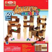 Amaze 'N' Marbles Classic Wood 60-Piece Construction Set, Multi