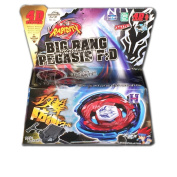 Beyblade Cosmic Big bang Pegasus (Pegasis) Metal Fury BB-105 Starter Retailer Set Includes LL2 Launcher and Rip Cord Shipped and Sold from US
