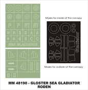 Montex Maxi Mask 1:48 Sea Gladiator for Roden 405 Spraying Stencil #MM48190