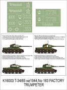 Montex Super Mask 1:16 T-34/85 for Trumpeter Kit Spraying Stencil #K16003