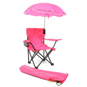Cute & Lovely Girls Camp Chair with Umbrella in Pink (Suitable for children  .