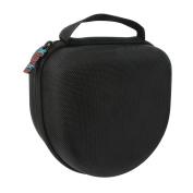 Khanka Hard Case Travel Storage Bag for Sony MDRV6 Studio Monitor Headphones / MDR7506 Professional Large Diaphragm Headphone -Black