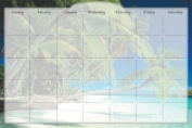 Biggies DC-BHI-36 Dry Erase Stickie Monthly Calendar - Beach Island