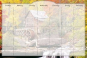 Biggies DC-WRW-36 Dry Erase Stickie Monthly Calendar - Water Wheel