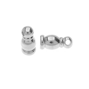 TierraCast Maker's Collection, Taj Cord Ends Fits 2mm, 2 Pieces, Silver Tone