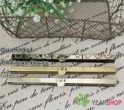 19cm / 7.5 inch Straight Channel Wallet Frame - Round Opening - Antique Brass