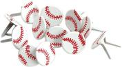 Eyelet Outlet Shape Brads 12/Pkg-Baseballs
