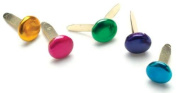 Creative Impressions Painted Metal Paper Fasteners 50/Package-Metallic Round