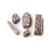Border & Floral Motif Hand Crafted Wooden Tags for Printing