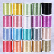 20 Spools of Polyster Embroidery Threads for Machine Embroidery - Premium Quality Set 1