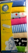 GERBER WASHCLOTH MULTICOLOR PACK OF 8