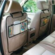 LANDFOX Car Auto Seat Back Protector Cover For Children Kick Mat Storage Bag