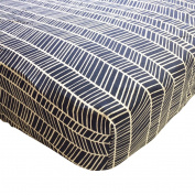 Danha Crib Sheet (Herringbone)