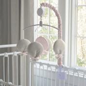 Carousel Designs Light Pink Linen Musical Mobile