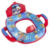Disney Mickey Mouse Deluxe Sound Potty Seat - Padded, Soft, and Durable - For Regular and Elongated Toilets - Removable Cushion for Easy Cleaning - Firm Grip Handles