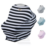 Cool Beans Baby Stretchy Car Seat Canopy - Multi-use Nursing Cover for Infant Boys and Girls