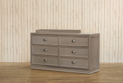 Franklin & Ben Mason Double Dresser, Weathered Grey, Wide