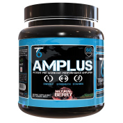 AMPLUS Natural Pre-Workout Supplement - Doctor Formulated With Trademarked Clinically Proven Ingredients, Sustained Energy & Enhanced ATP Production, All-Natural Flavour - Berry, 618 Gramme