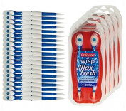 Colgate Wisp - Wisp Toothbrush - Camping Toothbrush - Mini Toothbrush - No Water Needed -  .  ness. Great for Camping, Travelling. Each Pack Is Small, Compact and Contains 4 Disposable Toothbrushes. Clean Teeth and Fresh Breath - 5 Packs