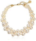 Ben-Amun Jewellery Woven Collar Faux-Pearl Strand Necklace