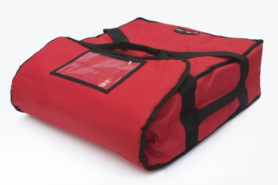 Red Polyester Insulated Pizza / Food Delivery Bag 16″ - 18″ Professional Pizza Delivery Bag- Moisture Free- Holds Multi Pizza Boxes - Commercial Pizza Bag.