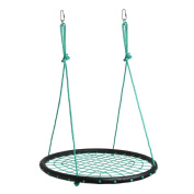 IMAGE Spider Web Swing Tree swing Net Swing Platform Rope swing Nylon Rope detachable 100cm diameter with carabiners Adjustable hanging ropes