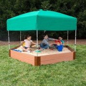 """Frame It All Two"""" Series 2.1m x 2.4m x 28cm . Composite Hexagon Sandbox Kit with Canopy/Cover"""