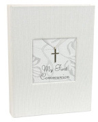 Stephan Baby Inspirational Keepsake Mini Photo Album with Silver Cross, My First Communion by Stephan Baby