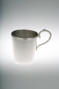 Children's Mug with Handle Smooth Polished Real Silver 925 Necklace