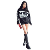 Women's NYC Letter Printed Loose Pullover Long Sleeve Cotton Sweatshirts